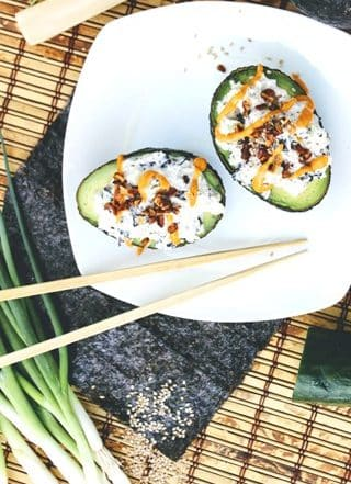 California Sushi Roll Stuffed Avocados