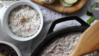 3 Ingredient Sausage Cream Cheese Vegetable Dip
