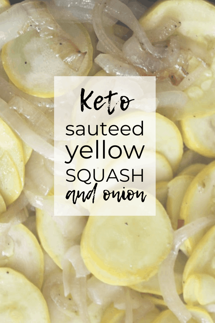 Yellow squash sautéed in butter is a tasty keto vegetarian side dish for your ketogenic meal. These slightly caramelized vegetables melt in your mouth! If you're looking for ways to use yellow squash, this humble little easy yellow squash side dish will surprise you! #ketoyellowsquash #keenforketo