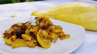 Sauteed Yellow Squash and Onion in Butter
