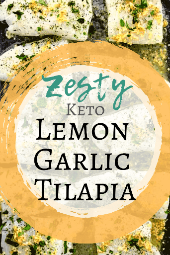 This is the best keto fish recipe! This is such an easy ketogenic fish recipe. Keto lemon garlic tilapia will knock your socks off on a bed of keto Greek green salad.