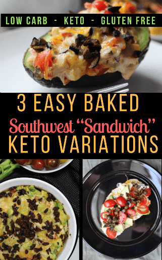 If you love the classic Baked Southwest Sandwich, you're going to LOVE these keto variations! Avocados, tomatoes, turkey, gooey cheese, all smothered in the famous Southwest Mayo! Yum! #ketogenic #ketosandwich