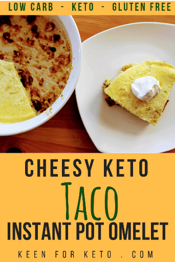 You might call it instant pot taco pie or instant pot taco casserole. Here we call it Cheesy Keto Super Taco Instant Pot Omelet! With a Keto Super Taco Meat base topped with a quiche-like omelet topping, you'll be reaching for more than one piece for a low carb dinner, breakfast, or lunch!