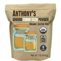 Anthony's Organic Ground Cumin (1lb), Gluten Free