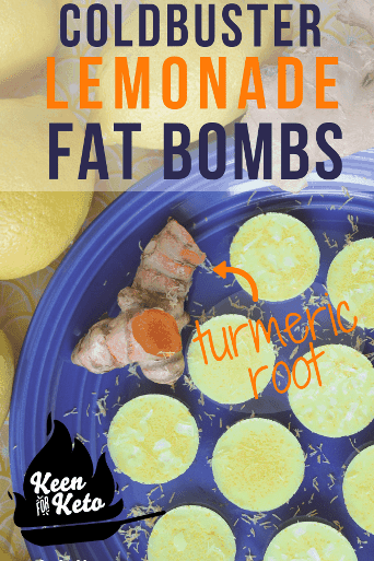 These tasty, zingy lemonade fat bombs will help you fill your healthy fat quota on the ketogenic diet, while also reducing inflammation, increasing electrolytes, and serving as a coldbuster with its turmeric and ginger. this is one of those anti-inflammatory desserts you won't want to miss! #fatbombs