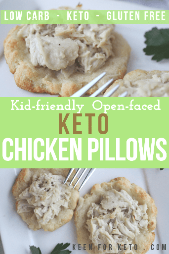 Open faced keto chicken pillows  are a keto friendly, kid friendly easy dinner for the whole family! #ketogenic