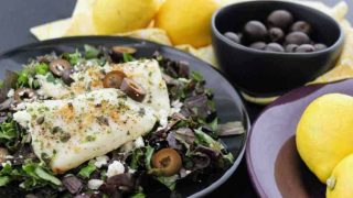 Easy Keto Lemon Garlic Mediterranean Tilapia and Greek Salad Dressing