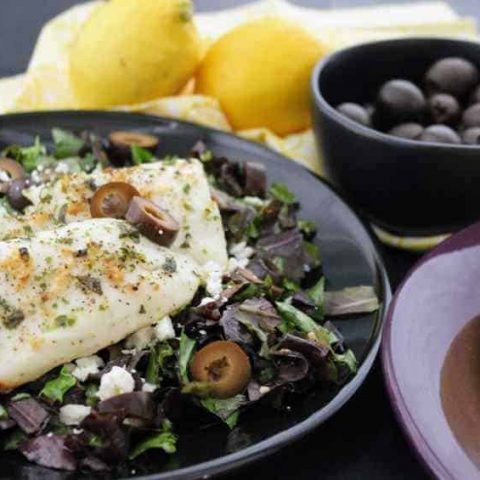 Easy Keto Lemon Garlic Mediterranean Tilapia