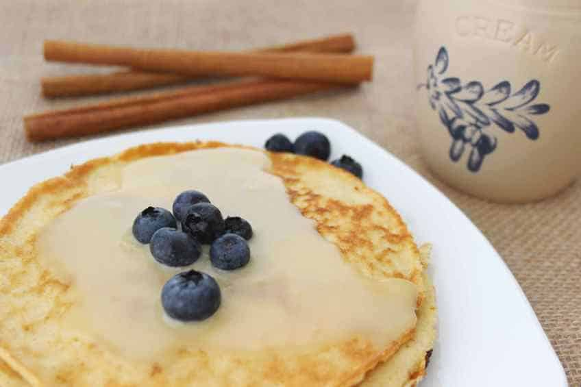 Your pancakes, German pancakes, and waffles will never be the same! Stop looking for a sugar free maple syrup and start clicking on this recipe! Keto Sugar Free Buttermilk Syrup is a salty-sweet amazing  alternative for your keto breakfast needs. #sugarfreesyrup #sugarfree #sugarfreebuttermilksyrup #lowcarbbuttermilksyrup #buttermilksyrup