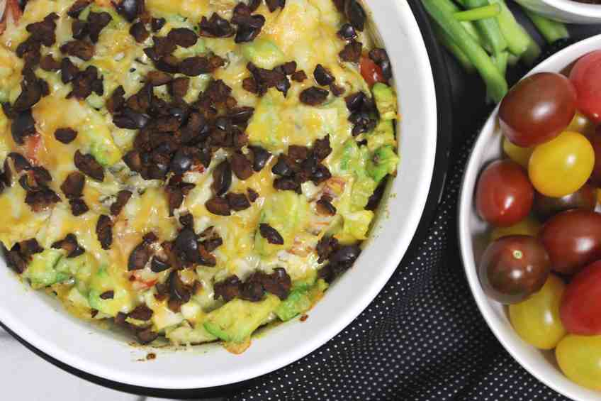 "Southwest Turkey Avocado Bake is one of the 3 Easy Baked Southwest ""Sandwich"" Keto Variations at Keen for Keto! Great for using up Thanksgiving leftovers! #thanksgivingleftovers #turkeyleftovers"