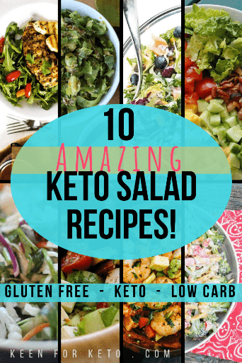 Take your pick! These are amazing keto salad recipes from keto and low carb bloggers from around the web. Get ready for fresh bliss! #ketosalad #ketosaladrecipes #lowcarbsalad #salad #glutenfree #lchf