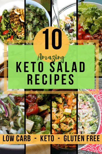 Don't miss these ketogenic salad recipes from popular keto and low carb bloggers around the web! #ketosalad #lowcarbsalad #glutenfreerecipes #glutenfreeketo #salad #lchf