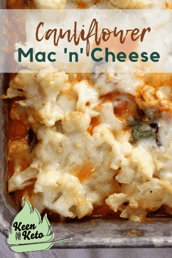 Grain-Free Keto Spinach Macaroni Inferno is the ultimate keto caulimac casserole comfort food for the keto diet. With its warm, cheesy layers of both red and white sauces interlaced with spinach, you won't notice the carb-full pasta has been replaced with cauliflower in this keto cauliflower hot dish! #macaroni #ketopasta #ketomacaroni #macaroniinferno #caulimac #ketocasserole