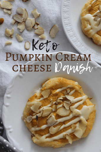 Ketogenic Pumpkin Cream Cheese Danish is perfect for on-the-go breakfast, dessert, or snack! This easy ketogenic danish breakfast tastes like rich mini pumpkin pies! So delicious and perfect for a keto diet Thanksgiving, Christmas, or Easter treat! Try this low carb pumpkin danish today! #ketodanish #ketosnack #ketobreakfast