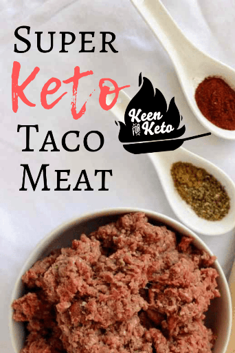 #TacoWeek at Keen for Keto! A week's worth of low carb, gluten free, keto taco meat recipes to use your Keto Super Taco Meat! #ketodiet