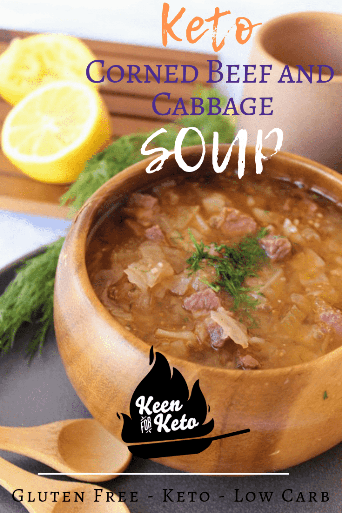 Looking for a keto St. Patrick's Day soup? Look no further! Spiced  corned beef, creamy turnips, onion, and fennel bulb all make a delicious appearance in this keto instant pot corned beef and cabbage soup recipe. Make your corned beef and cabbage soup low carb! You won't regret making the best keto cabbage soup!