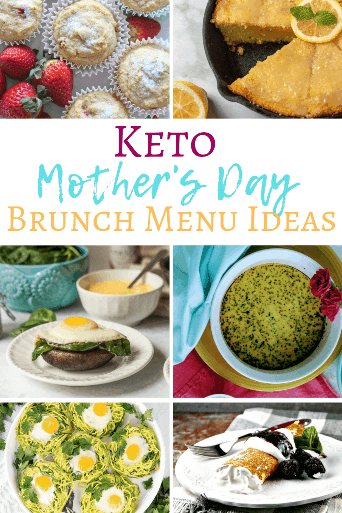 Mom doesn't want to go to a restaurant for Mother's Day brunch and deal with trying to order keto from a carb-loaded menu! Instead, fix her up a nice keto Mother's Day brunch! I've got all the Mother's Day keto brunch recipes you'll need for your keto brunch menu! Try out an easy low carb noatmeal creme brulee, instant pot frittata, or dairy free keto strawberry muffins. Mom will love her home-cooked low carb brunch menu! From Keenforketo.com | Keto brunch recipes | Keto diet | low carb recipes | keto breakfast ideas