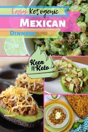Fiesta time! Here's the ultimate list of keto dinner recipes with taco ground beef! On the border keto recipes with taco meat, including ketogenic taco salad, ketogenic taco stuffed avocados, low carb keto mexican taco casserole, gluten free keto Mexican Bubble Pizza, and more amazing Mexican keto dinner recipes with keto friendly taco meat! #mexicanketorecipes #mexicanketodinner