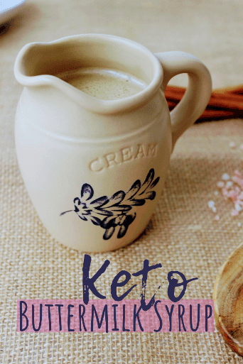 Whether you call it buttermilk syrup or golden syrup, if you've had this delicious syrup before, you know how amazing the taste is on pancakes or waffles! Buttery, salty, sweet keto pancake syrup. Now you can have it on a ketogenic diet! Keto Sugar Free Buttermilk Syrup is not to be missed!