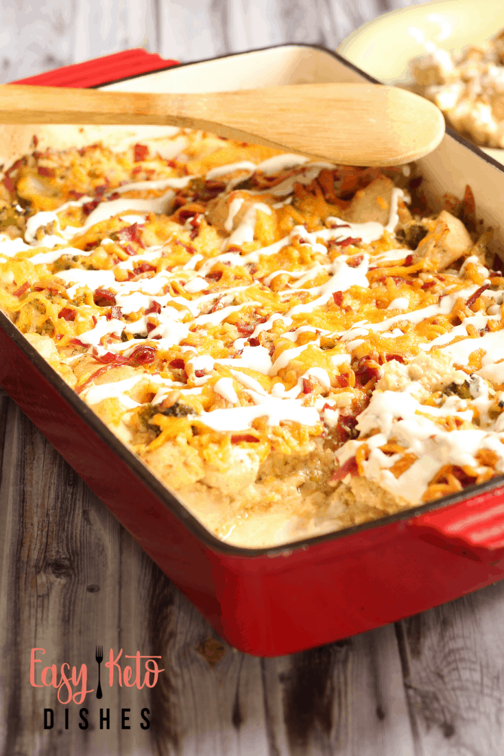 Chicken Bacon Ranch Casserole (low carb, keto)