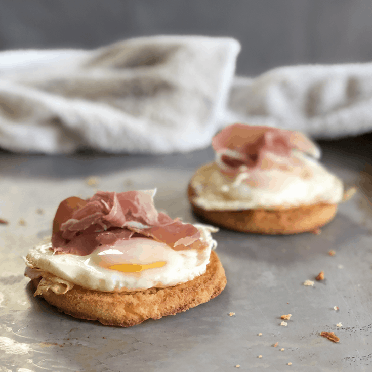 Keto Egg and Prosciutto Open-Faced Sandwich