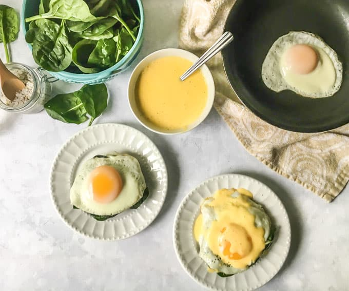 Portobello Eggs with Hollandaise Sauce (low carb)
