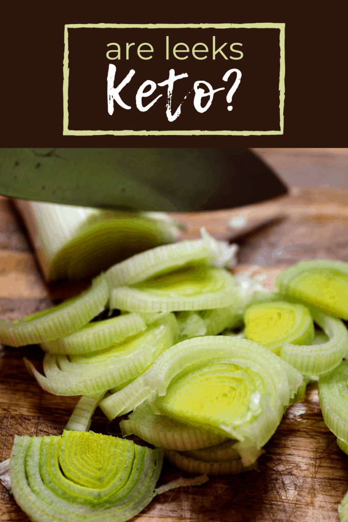 Are leeks ok on keto? How many carbs are in leeks? Find out how they compare to onions and if they really are okay to eat on the keto diet. Plus, you'll also find out how to prepare leeks! Keen for Keto | keto leeks | keto leek recipes | carbs in leeks | keto vegetables