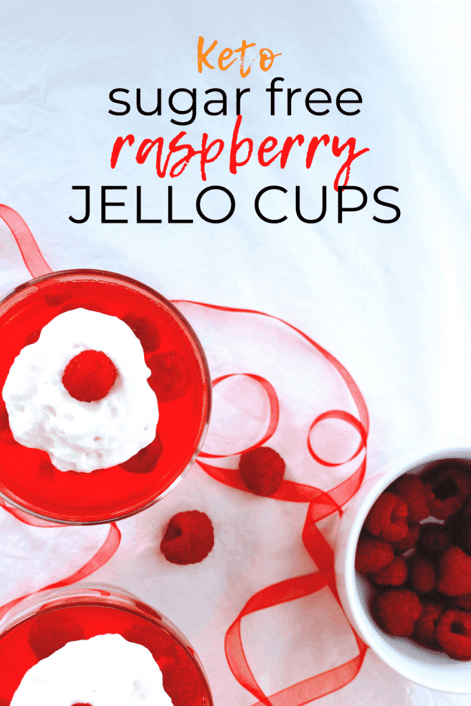 Keto sugar free raspberry gelatin cups are the easiest keto dessert you'll ever make! Using unflavored gelatin packets cuts down on the less healthy sugar free sweetener varieties and gives you more control over your ingredients. Keen for Keto | keto gelatin cups | keto unflavored gelatin | keto dessert Sugar Free Jello Keto
