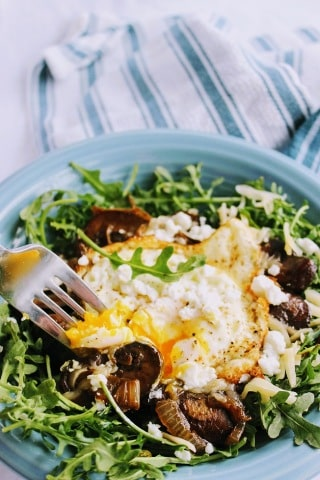 Arugula Egg Breakfast Bowl Keto