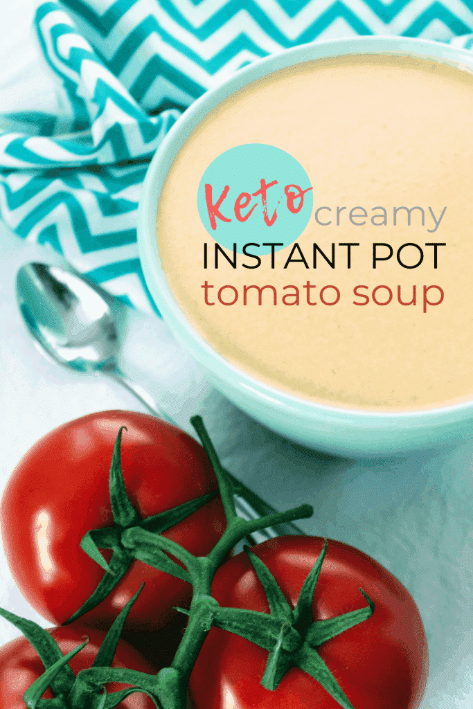 Easy, creamy, warm comfort in a bowl is how I would describe this keto creamy tomato soup! Fresh tomatoes are blended with a bit of onion, garlic, no salt seasoning, butter, cream, and a few other simple ingredients. The soup is then cooked in the pressure cooker till it's piping hot, delicious, and ready to be devoured! Keen for Keto | low carb tomato soup | keto tomato soup | keto instant pot soup | keto dinner