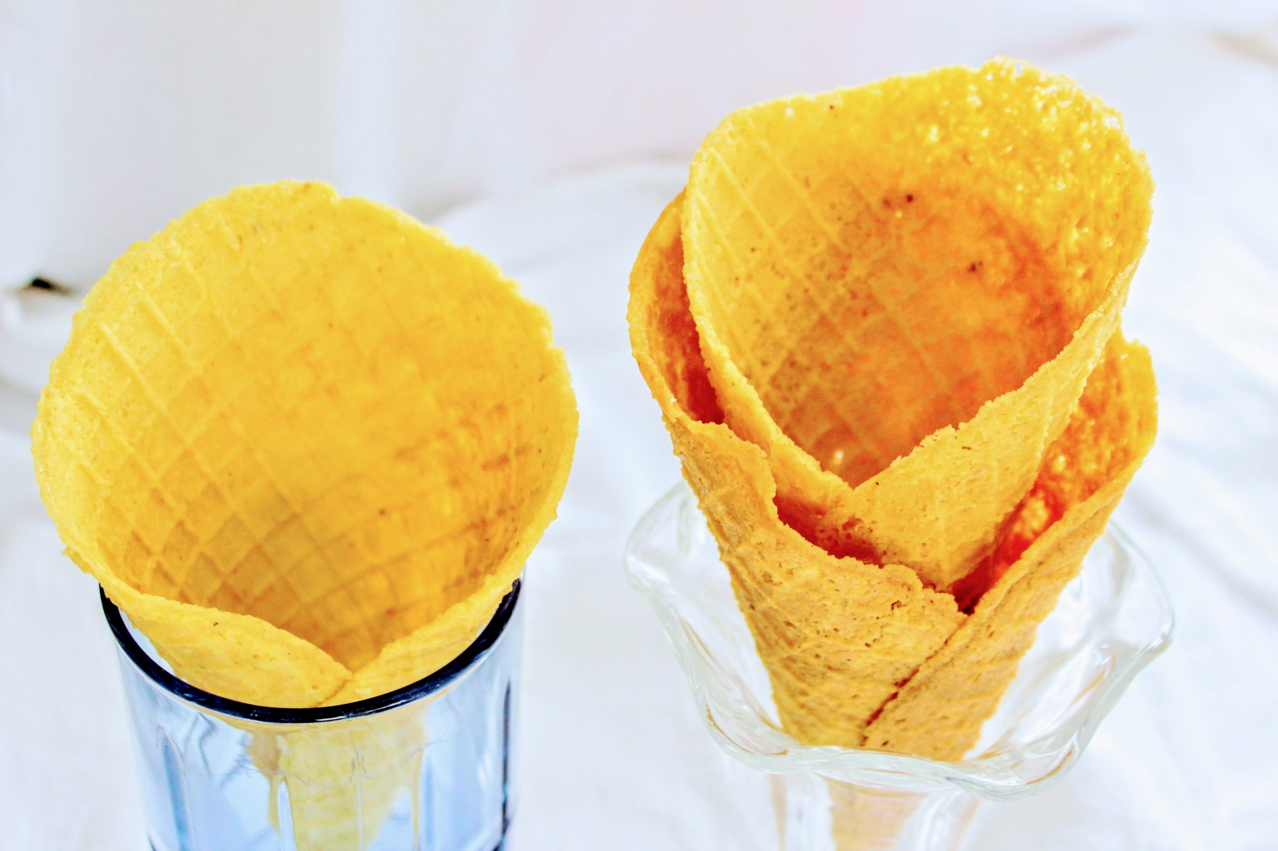 low carb waffle cones without bakign powder and with bkg pwd