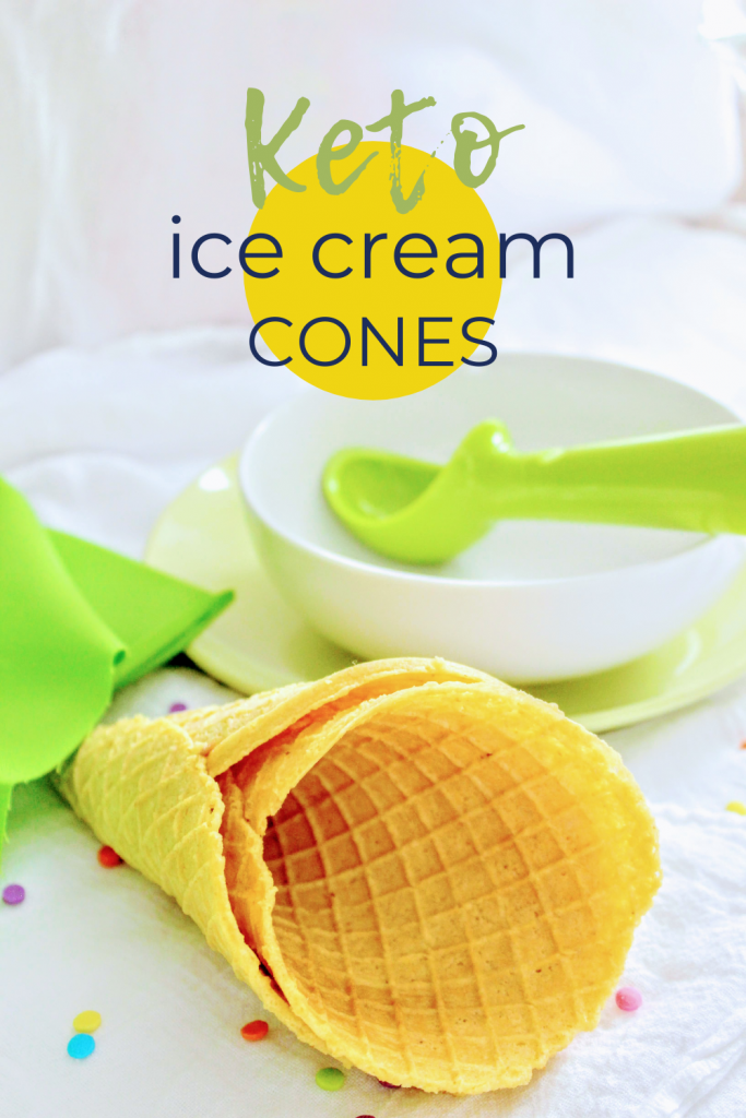 Keto ice cream cones just don't exist in the stores, which is why this keto waffle cone recipe is perfect for ice cream lovers doing the keto diet. Crisp and sweet and so easy!
